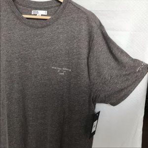 Spiritual Gangster Gray Boundless Shirt Top L